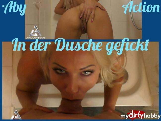 [My Dirty Hobby] AbyAction [In der Dusche gefickt / Fucked in the shower!] [FullHD]