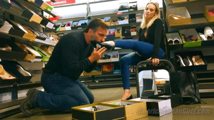 [AmericanMeanGirls.com] Goddess Platinum [MY SHOE-BITCH HUMILIATED IN PUBLIC] [FullHD]