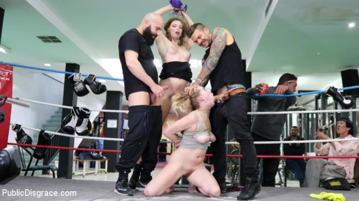 Ella Nova, Max Cortes, Juan Lucho, Cadence Lux [Cadence Lux, Spit-Roasted by Spanish Dick] [HD] Public Disgrace KINK EXCLUSIVES